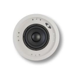 """Speaker, In-Ceiling, Subwoofer, 8 Ohm, 92 dB, 600 Watt, 50 to 130 Hertz, 8"""" Woofer, 14.15"""" Diameter, 12.75"""" Mounting Depth, White"""