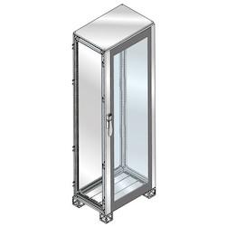 CABINET GLASS DOOR S. STEEL 1800 x 1000 x 500