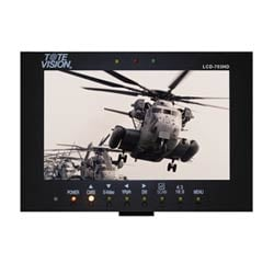 LCD-703HD avec serrure po V support IDX et autres batteries, avec adaptateur secteur