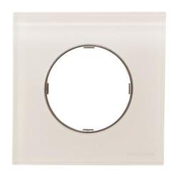 8671 CB - Frame 1-gang - White Glass