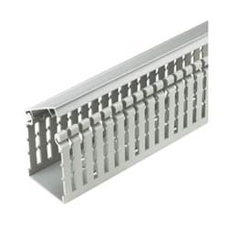"Hinged Duct, Narrow Finger, 1.5""x2.0""x6', Light Gray, Base and Covers Sold Separately"