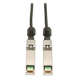 SFP+ 10Gbase-CU Passive Twinax Copper Cable, SFP-H10GB-CU1M Compatible, Black, 1M (3-ft.)