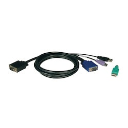 USB/PS2 Combo Cable Kit for NetController KVM Switches B040-Series and B042-Series, 10-ft.