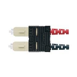 Connecteur SC, Opti-Crim OM1 62,5/125um Multimode Duplex, à 3,0 mm chemisé câblage, connecteurs rouges et noirs
