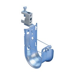 """nVent CADDY Cat HP J-Hook with BC Beam Clamp, Swivel, 1 5/16"""" dia, 1/2"""" Max Flange"""