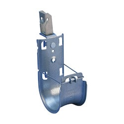 """nVent CADDY Cat HP J-Hook with Z Purlin Clip, Swivel, 4"""" dia, 0.06""""-0.1"""" Flange"""