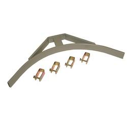 "CABLE RUNWAY CORNER BRACKET, 5""W X 1.5""H X 15.48""L, WHITE"
