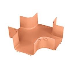 "Four Way Cross Fitting, 6"" x 4"" (150mm x 100mm), FiberRunner, Orange, Cover Sold Separately"