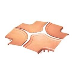 """Subdivisé la couverture, pour quatre chemin Croix raccord, 12 """"x 4"""" 300 mm x 100 mm, FiberRunner, Orange, raccord vendu séparément"""