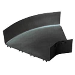 """Ajustage, Angle Horizontal de 45 degrés, 12 """"x 4"""" 300 mm x 100 mm, FiberRunner, noir, couvercle vendu séparément"""
