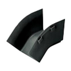 """Fitting, Outside Vertical 45, 4"""" x 4"""" (100mm x 100mm), FiberRunner, Black"""