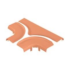 "Diviser la couverture horizontale Tee, 6 ""x 4"" 150 mm x 100 mm, FiberRunner, Orange"