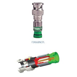 Coax Connector, Commercial, BNC CONNECTOR FOR RG-6 PLENUM, CABLE