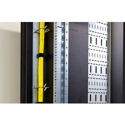 37U 800X1200 MINICUBE BLACK, GLASS DOOR INCLUDES 16AMP 0U PDU MAX LOAD 2KW