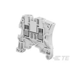 Screw Clamp Terminal Block, 1-Circuit, Block Feed-Through, 2 Positions, 41 A, 10.6 G, Operating Temperature Range: -55 - 110 C