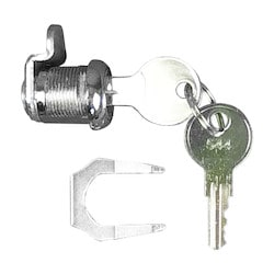 SHORT CAM-LOCK WITH 2 KEYS    #544 AND BAND FLANGE. USED    WITH DSC ALARM