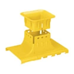 "Fitting, Up Spout, 6"" x 4"" (150mm x 100mm), FiberRunner, Yellow, Cover Sold Separately"