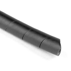 "Spiralwrap Protective Sheathing, .75"" Diameter, PE, Black, 100 ft/roll"