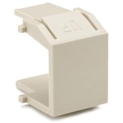 Blank Module, ABS 94V-0, Ivory, 10/pkg