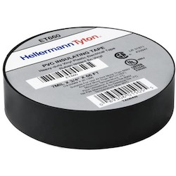 "Electrical Tape, .75"" x 66' Roll, 7.0 mil Thick, PVC, Black, 10 rolls/pkg"
