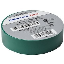 """Electrical Tape, .75"""" x 66' Roll, 7.0 mil Thick, PVC, Green, 10 rolls/pkg"""
