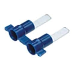 Male Blade Adapter, Vinyl Insulated, #16 - #14 AWG, .42 Blade Length, .145 x .032 Tab Size, Reel Fed, Blue, Pack of 3000