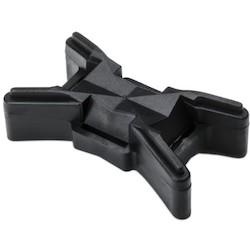 Extended-Length Tie Spacer, PP, Black, 50/pkg