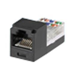 Mini-Com Mini-Jack Module, Category 3, UTP, 8-Position 8-Wire, Universal Wiring, Black