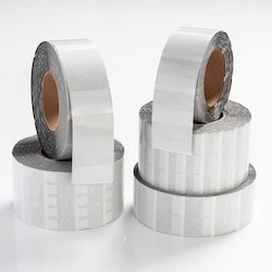 """Thermal Transfer Labels, Self-Laminating, .5"""" x .5"""" x 1.43"""", 5 Across, VL, White, 10,000/roll"""