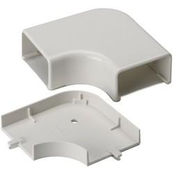 "Elbow Cover, 1-3/4"", 1"" Bend Radius, PVC, Office White, 1/bag"