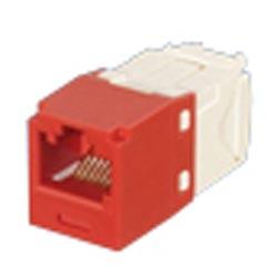 Mini-Com Keyed Module, catégorie 6, UTP, Position 8 8 fils ELECTRIQUE universel, rouge, Style TG