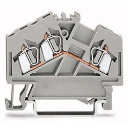 3-conductor Through Terminal Block; 2.5 mm2; Center Marking; For Din-rail 35 X 15 And 35 X 7.5; CAGE CLAMP