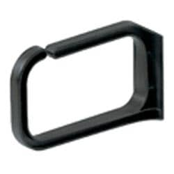 """Cable Management, Horizontal D-Ring High Density, Outside dimensions: 3""""H x 5""""W, Black"""