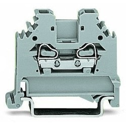 2-conductor Through Terminal Block; 2.5 mm2; Lateral Marker Slots; For Din-rail 35 X 15 And 35 X 7.5; CAGE CLAMP
