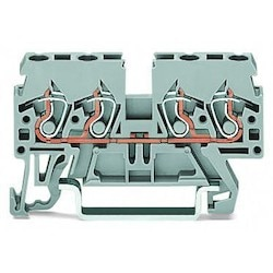 4-conductor Through Terminal Block; 2.5 mm2; Side And Center Marking; For Din-rail 35 X 15 And 35 X 7.5; CAGE CLAMP