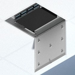 Locking 2U Suspended Ceiling Zone Enclosure, 4 In. Deep Back Box, Door For Up To 7 Antennas