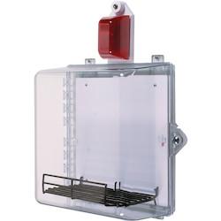 AED Protective Cabinet with Siren/Strobe Alarm, Thumb Lock