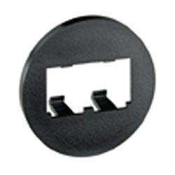 Faceplate, 2 Port, Round, Black