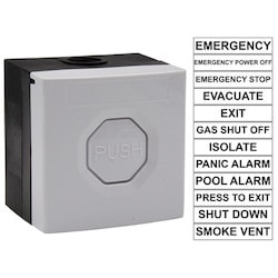 Indoor Push Button, White Housing with White Button, Momentary, SPC & DPC