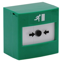 Reset Call Point, Indoor, Green, Surface Mounting (Wall Plate & Back Box), Double Pole Changeover