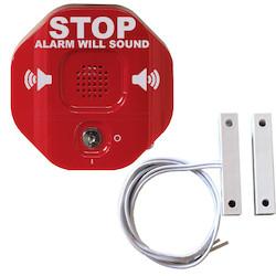"""Exit Stopper Double Door Alarm, 136mm (5.375"""") H x 136mm (5.375"""") W x 50mm (2"""") D"""