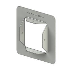 EZPATH MAX FIRESTOP DEVICE KIT102MMX116MMX353MM INCLUDES    2 WAL PLTES191X178MM