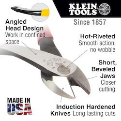 Angled Head Diagonal-Cutters, 8-Inch
