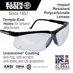 Protective Eyewear, Black Frame, Clear Lens