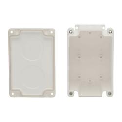 Waterproof Cat5e / Cat6 Electrical Junction Box 2 Cutouts