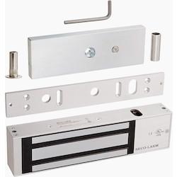 Electromagnetic Lock, 12/24 VDC, 1200 Lb Load, Anodized Aluminum Housing