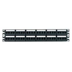 Panneau de brassage port 48 fourni avec 6 CFFP4 type enfichable façades et 48 Mini-Com TX5e Jack Modules (CJ5E88TBL), noir