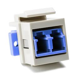 LC Singlemode Fiber Module, Blue, Office White, 1/pkg