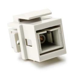 SC Multimode Fiber Insert, Beige, Office White, 1/pkg