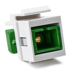 SC Singlemode Fiber Insert, Green, White, 1/pkg